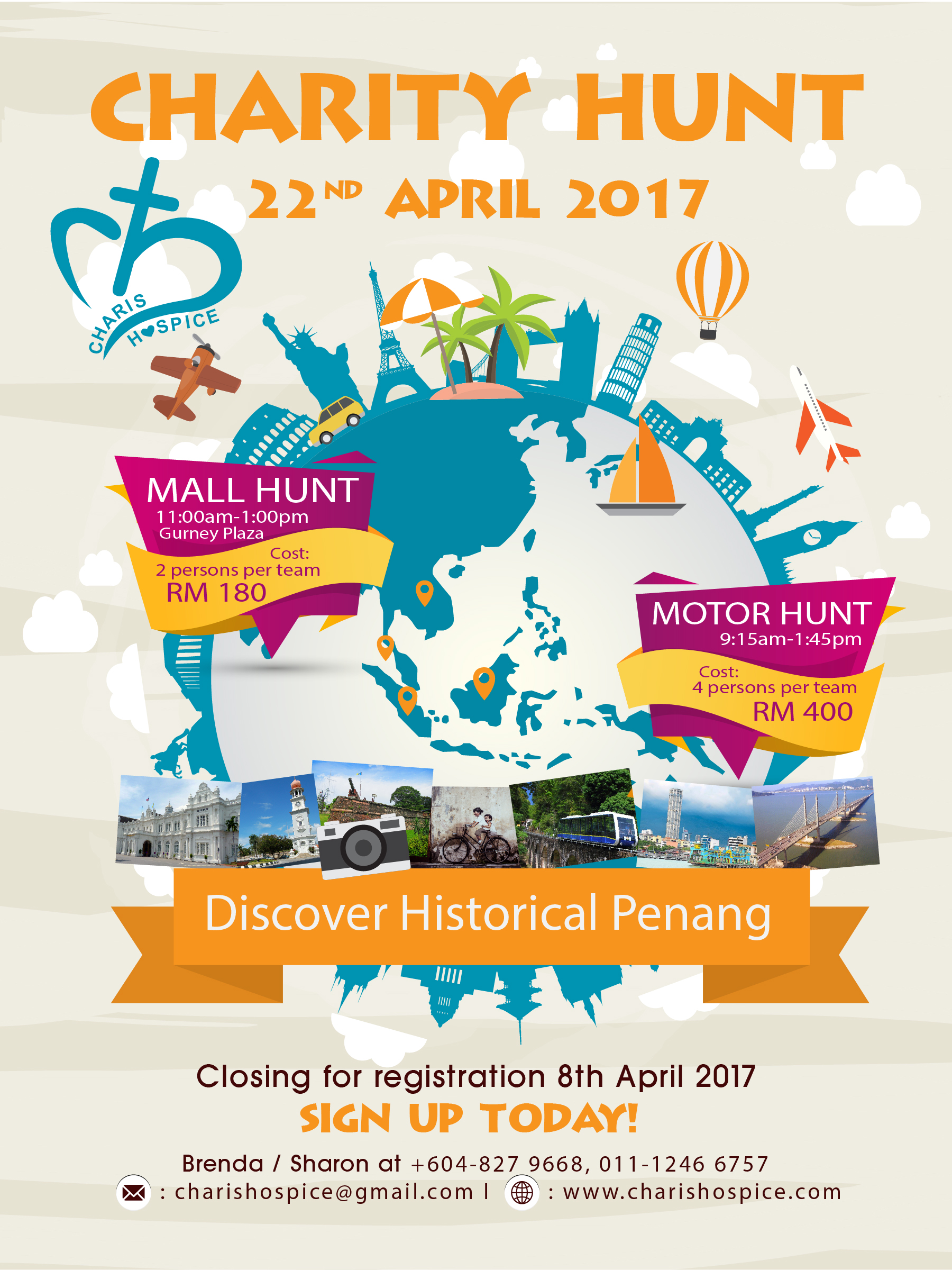 Charis Hospice Charity Hunt 2017-Discover Historical Penang